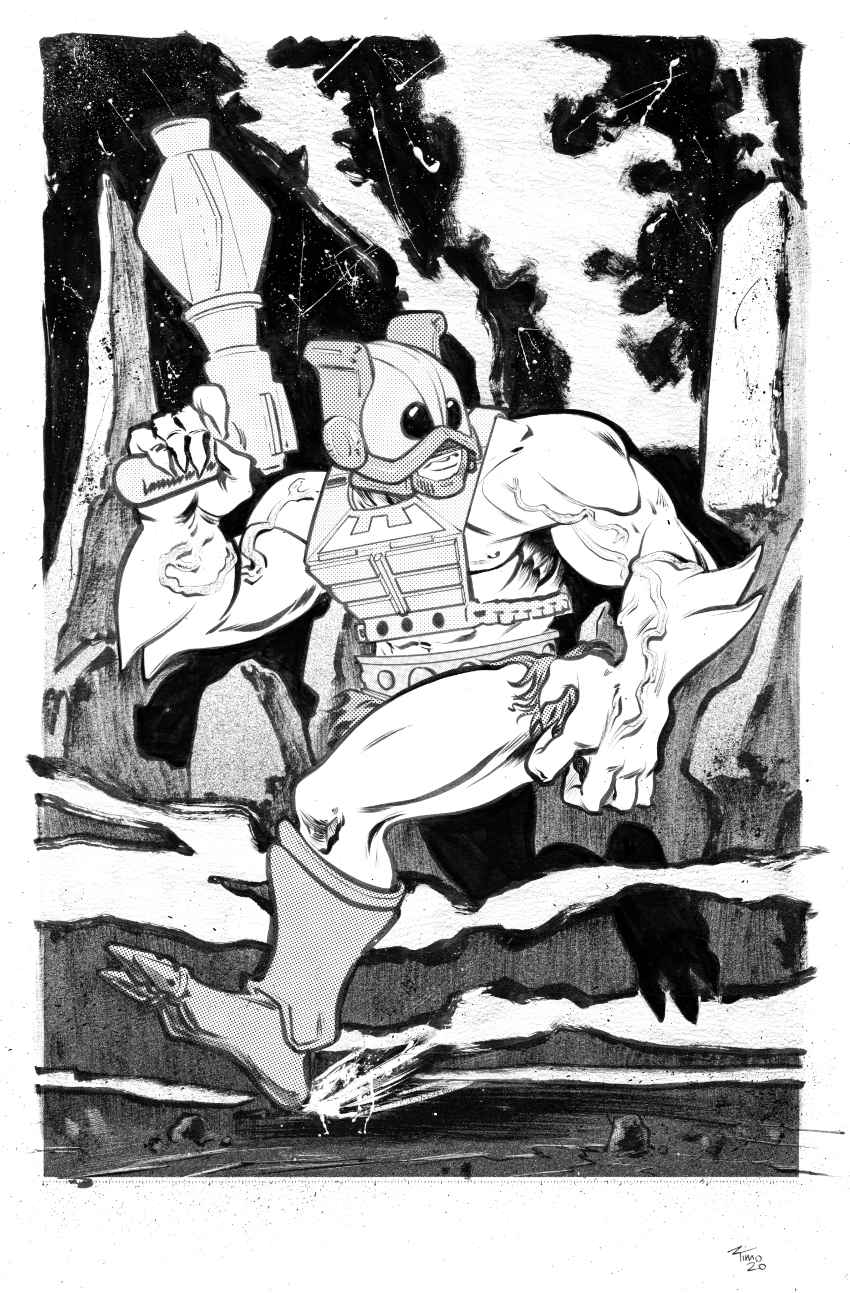Zodak Or Zodac from He-Man and the Masters of the Universe Illustration ink brush screentone